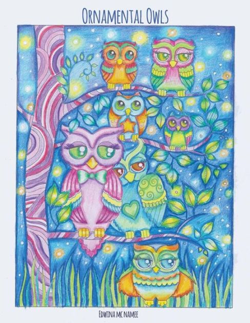 More than 25 fanciful full-page illustrations depict the cutest of owls with big glassy eyes. Owls are Beautiful for coloring because there's just so much...