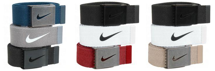 Nike Mens Swoosh Buckle Web Belt 3 Pack Nike Swoosh
