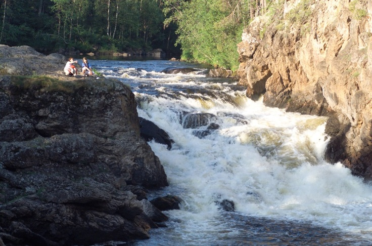 Kiutaköngäs rapid on Oulanka river, Oulanka National Park, Kuusamo, Finnish Lapland