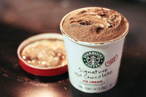 Hot Chocolate Ice Cream. Starbucks.