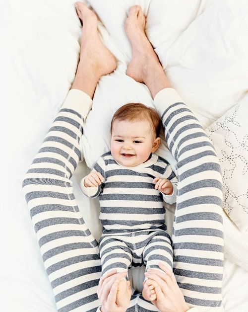 Matching mom and baby stripes - Hanna Andersson