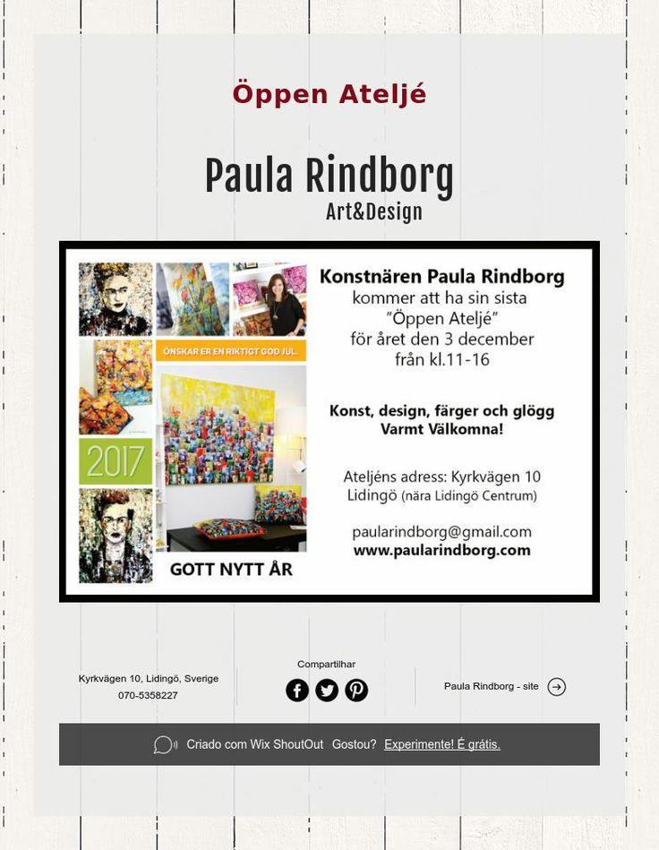 Öppen Ateljé - Paula Rindborg