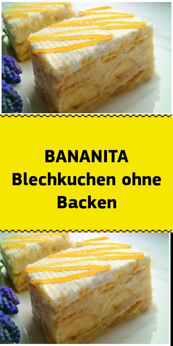 BANANITA Blechkuchen ohne Backen – NUR FÜR DICH