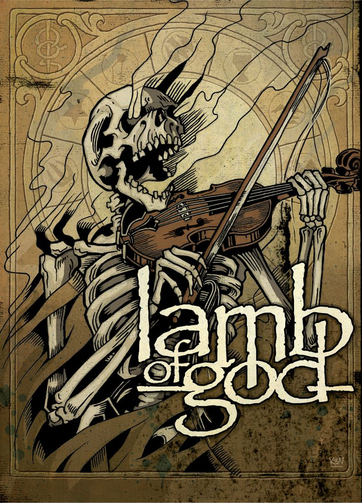 Lamb of God ☮ Heavy metal rock music concert psychedelic poster ☮