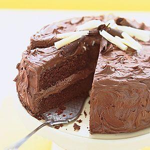 Sour-Cream Chocolate Layer Cake Recipe   MyRecipes.com