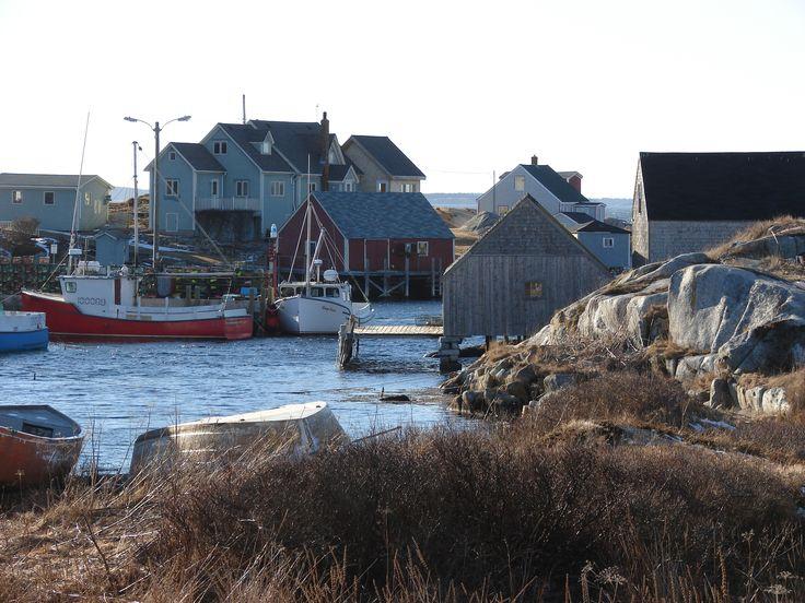 Peggy's Cove, NS, off season.