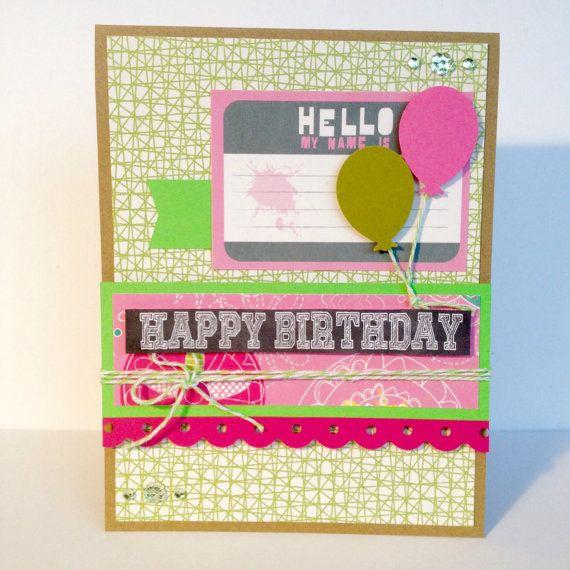 Happy Birthday Card with Birthday Balloons by BirthdayCardCentral