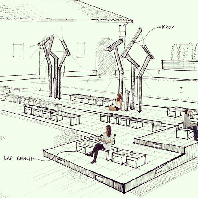Скетч для Итальянской Виллы в г.Алматы. Фонтаны, скамейки Grupoblux, уличное освещение Inside Krok. Чудесное место! #sketch #скетч #design #дизайнстудияалматы #almaty #bypanayev #luxury #дизайн