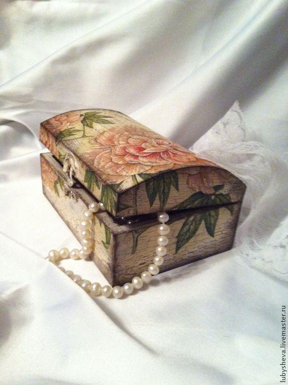 """Деревянная шкатулка """"Винтажная Роза"""" - шкатулка,Декупаж,шебби-шик,винтажный стиль"""