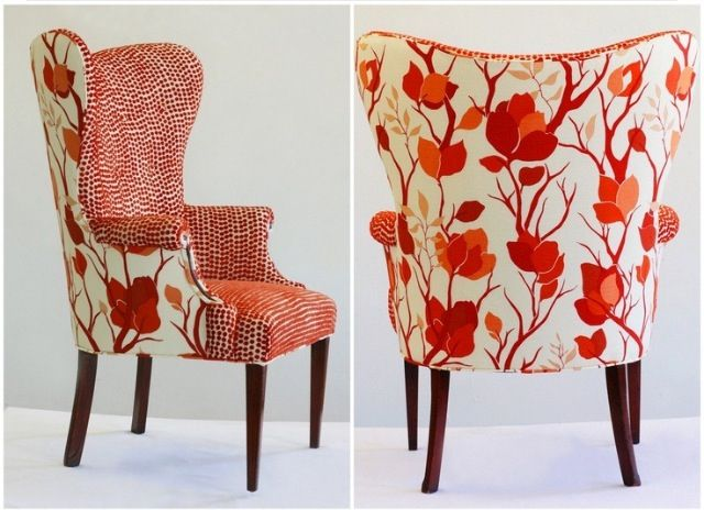 Recovering Chair Update Two Tone Upholstery