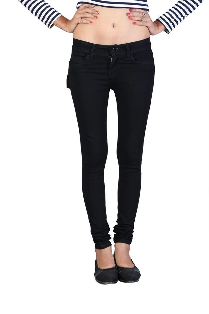 Women Girls Stretchable Black Slimfit Jeans waist 28  to 40