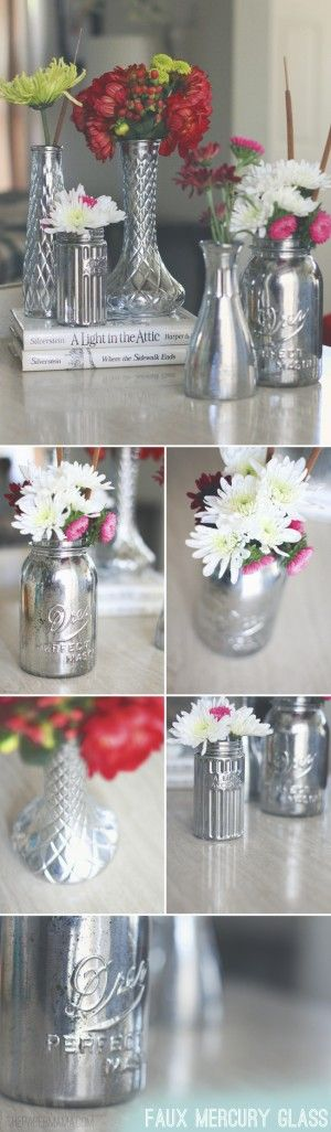 Mirror paint vases tutorial