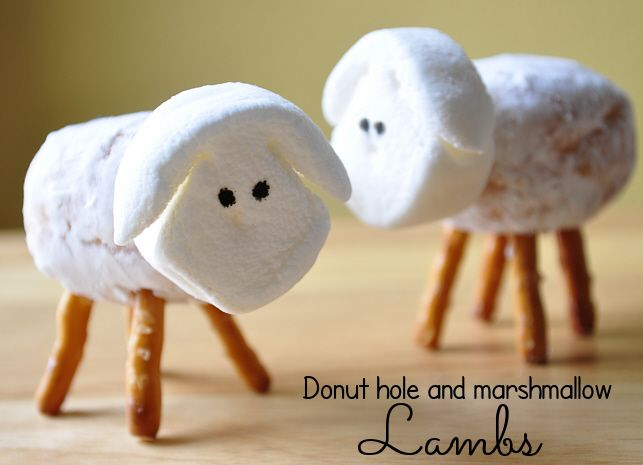 The easiest Easter lamb you'll ever make. :) Step by step instructions on making the cutest donut - doughnut - hole and marshmallow treats you've ever seen! BONUS idea that even your BOYS will love...hm! The Doodlekins Cartoon Family Blog