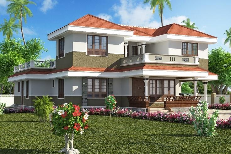 Creative exterior design attractive kerala villa designs - 3d home exterior design tool download ...