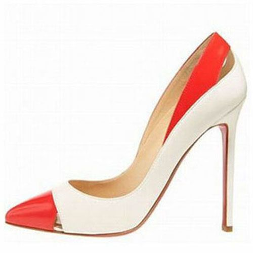 Exalted Christian Louboutin Pigalle Cutout Pumps White Red Sole ...