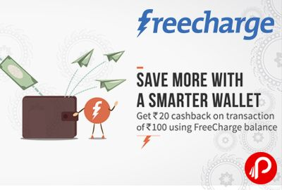 #FreeCharge is offering Flat Rs 20 #Cashback on #Recharge / #Bill #Payment of Rs.100 or more. Valid Till 06-05-2016, Valid on successful Recharges/Bill Payment done till 6th May 2016, Valid on Min transaction of Rs.100 when paid via FreeCharge Balance, Offer is valid twice per user. Not valid for Add Cash, Credit/Debit Card, NetBanking & Airtel Postpaid/Prepaid/DTH/Landline transactions…