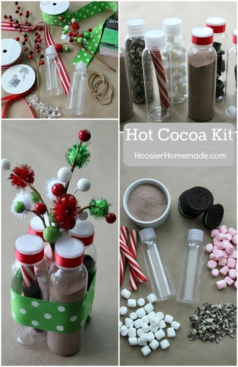 This adorable Christmas Gift is under $5 and perfect for teachers, neighbors, co-workers and more! Put together these Hot Cocoa Kits in minutes! Pin to your Christmas Board!