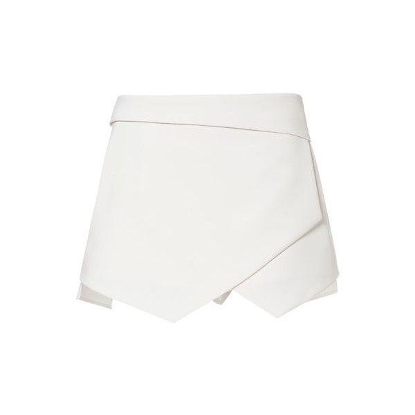 ZARA White Wrap Mini Skort Skirt Shorts Size SMALL LOOKBOOK BLOGGERS... ❤ liked on Polyvore featuring skirts, shorts, bottoms, skorts, golf skirts, white golf skirt and white skort