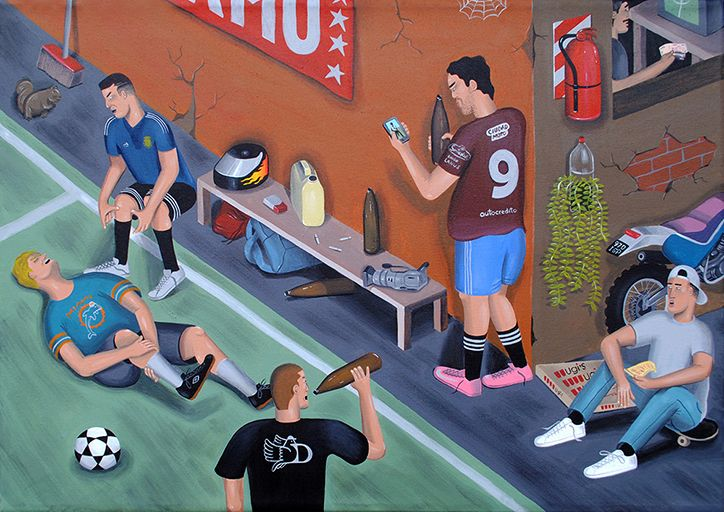 Artist Martin Gordopelota captures the passion for amateur football in Argentina