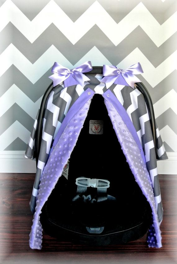 MINKY carseat canopy car seat cover LAVENDER