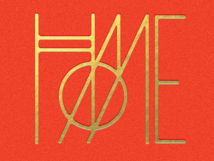 Home typography. Reminds me of the mid century modern era of design.
