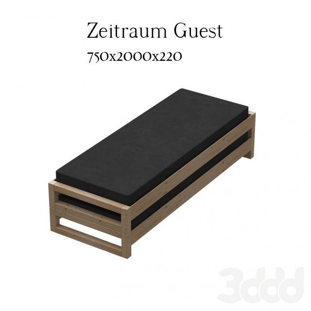 """3d модели: Кровати - Zeitraum Guest - универсальная кровать """"для гостей"""""""