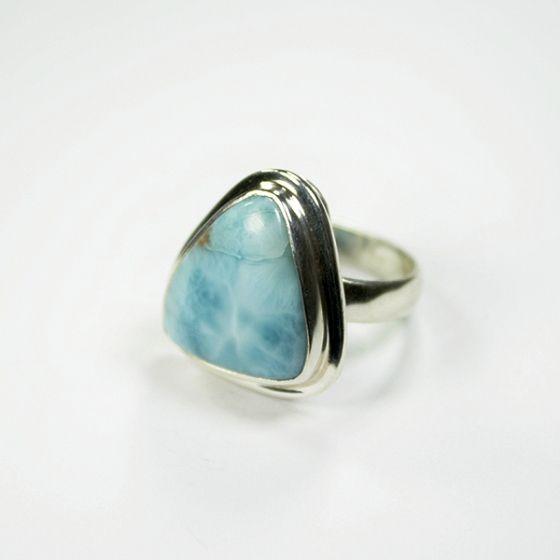 Ezüst gyűrű larimár kővel /72149/