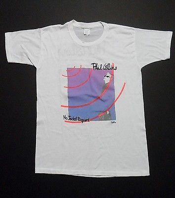 Vintage Phil Collins No Jacket Required 1985 Rock Concert Tour T Shirt X-Large