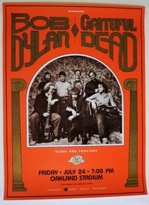 THE GRATEFUL DEAD - BOB DYLAN- OAKLAND COLISEUM - DAY ON THE GREEN- BILL GRAHAM