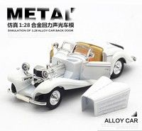 Wish | 1:28 Mercedes Benz 500K Simulation of the Classic Car Model Three Open Doors Acousto Optic Alloy Models Hot Toys