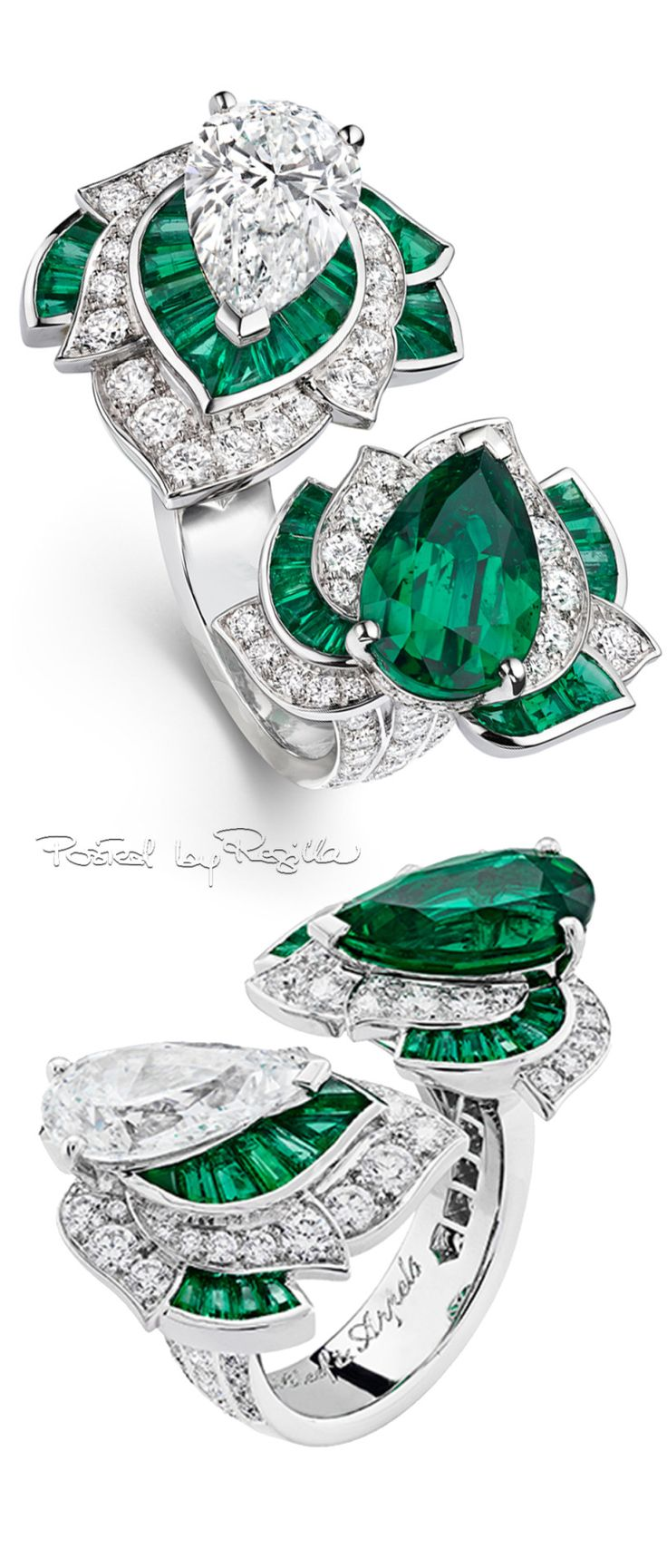 OMG! OMG! OMG! So hard to decide between this over the top ring by Van Cleef & Arpels and Jackie Kennedy's engagement ring. What's a girl to do?