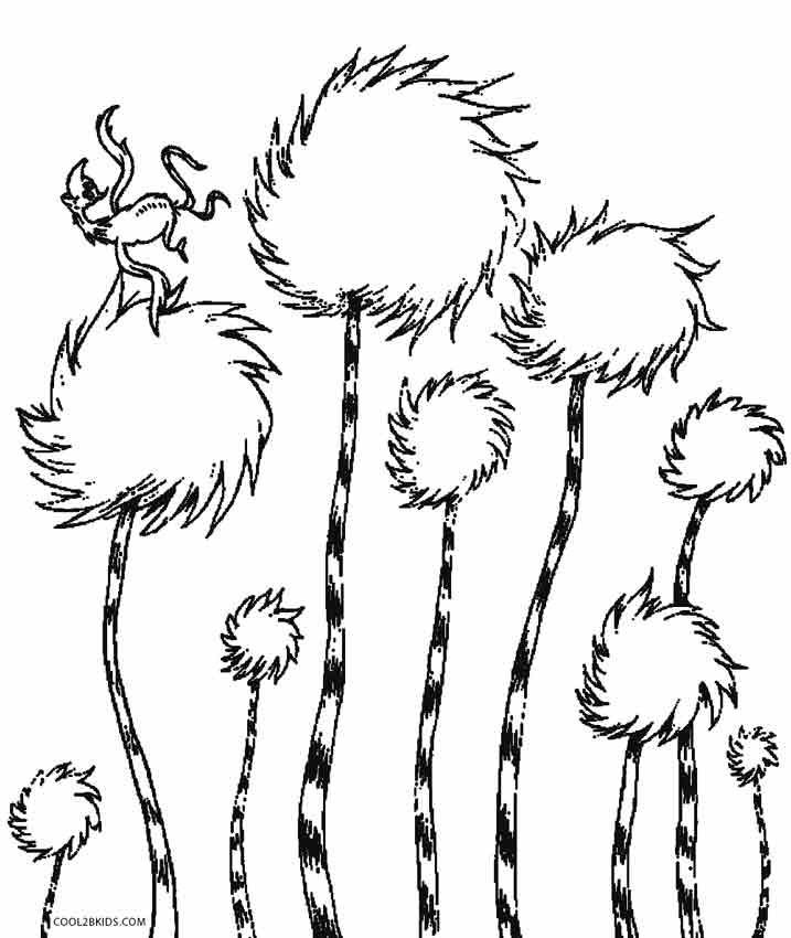 Lorax Coloring Pages Dr Seuss Coloring Pages Tree Coloring Page