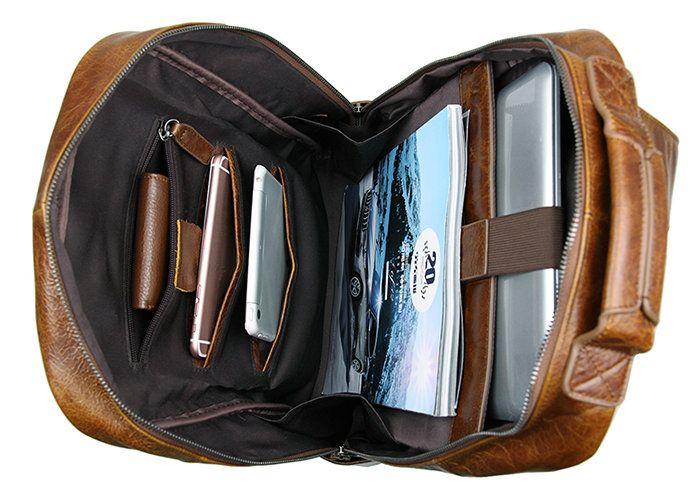 mochila de escolar de cuero mujer o hombre