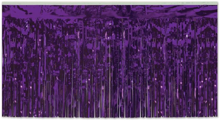 Wholesale Packaged 2-Ply FR Metallic Table Skirting - Purple (Case of 6)