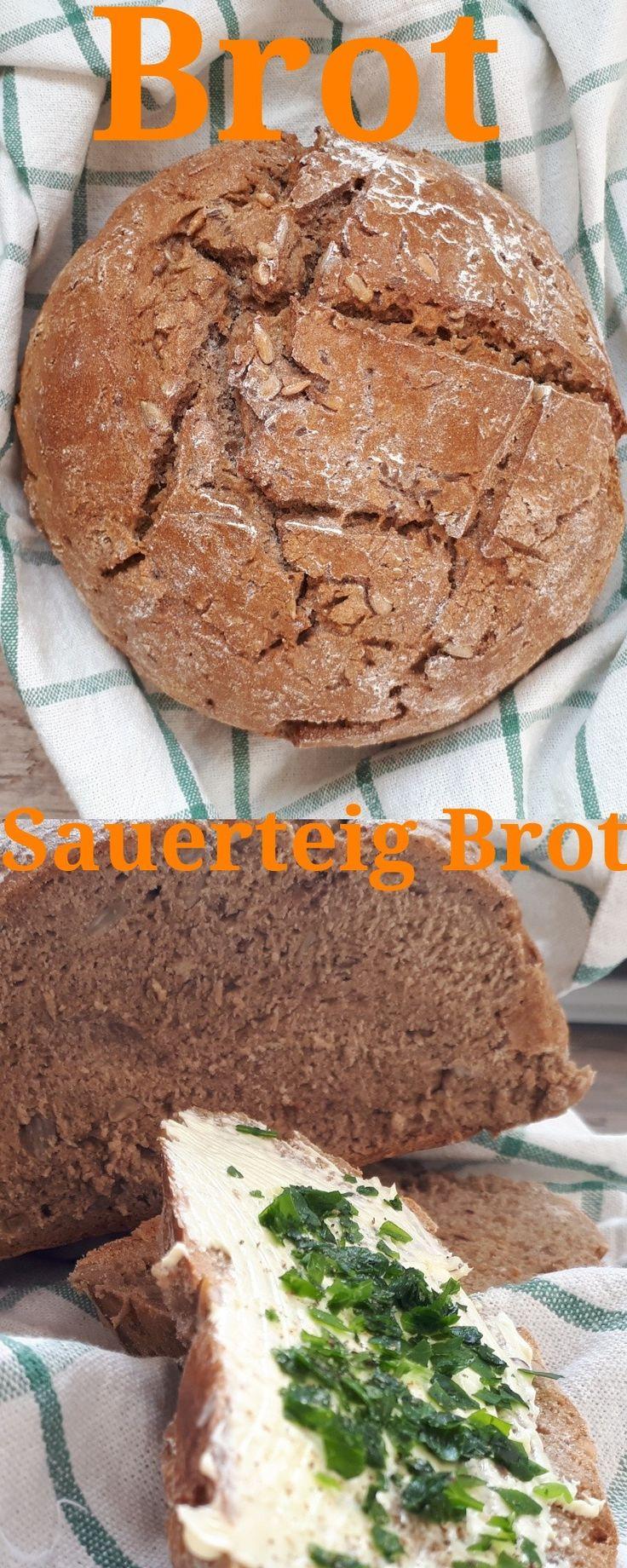 """Frisches Brot, Sauerteig 450 grRoggenmehl  150 gr Dinkelmehl  100 gr Bio Sauerteig, getrocknet  20 gr Hefe  500 ml Wasser, lauwarm  2 TL Salz  1 TL Schabzigerklee, gemahlen (""""Brotklee"""")"""