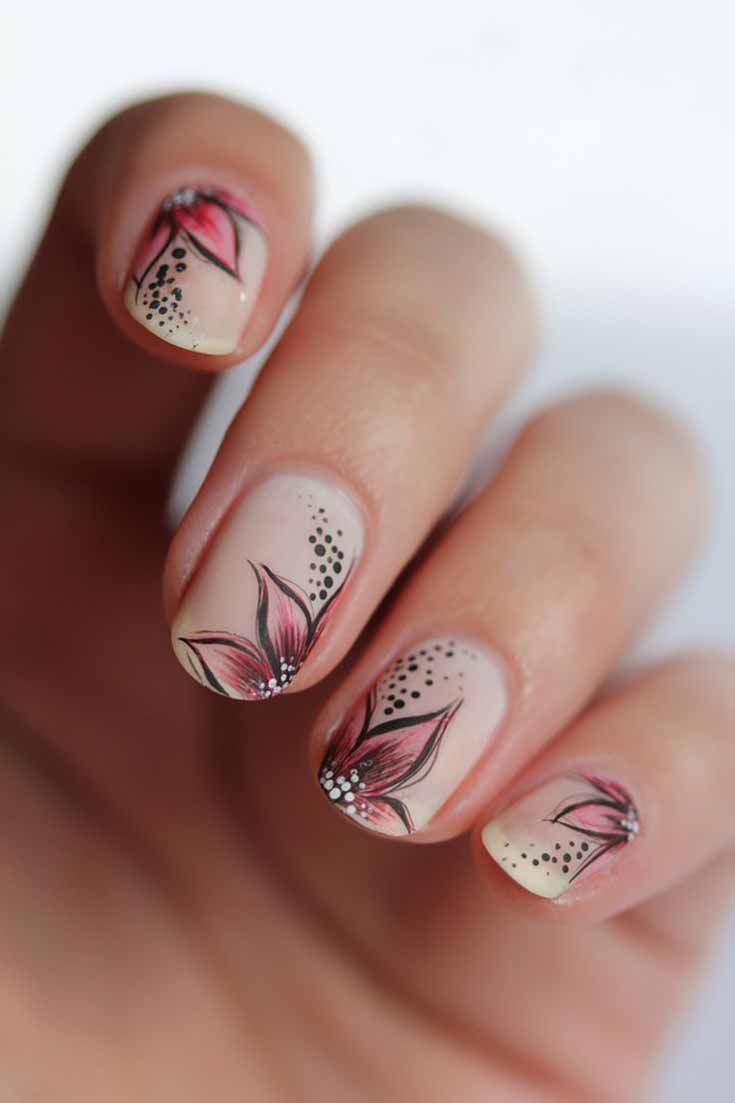 Snowflake nail art is really a great art as Christmas holiday design. There is#S…