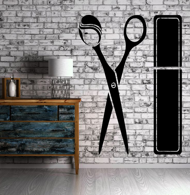 Hairdresser Wall Stickers Hair Stylist Salon Beauty Barber Tools Decal (ig2386)