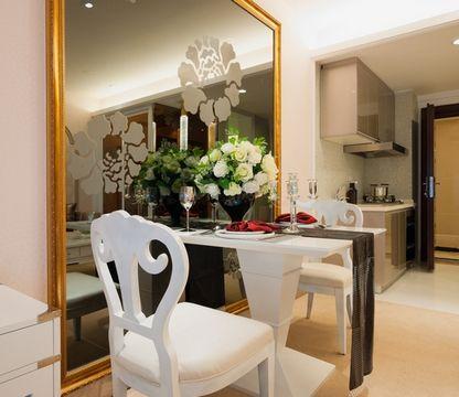 дизайн столовой в кухне и гостиной
