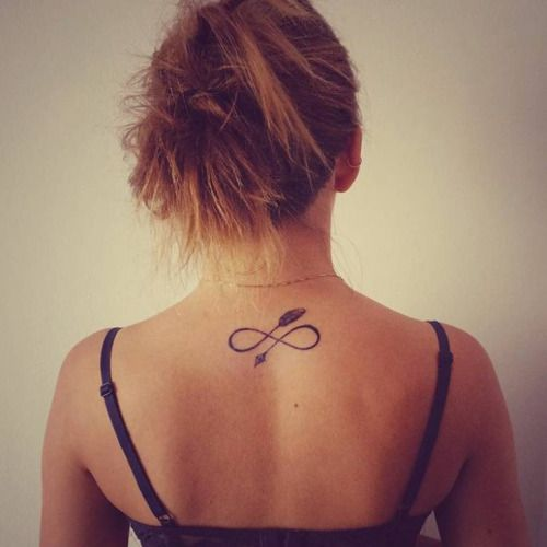 17 best images about upper back tattoos on pinterest for Arrow infinity tattoo