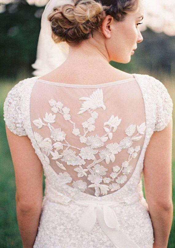 pretty lace detail #wedding dress