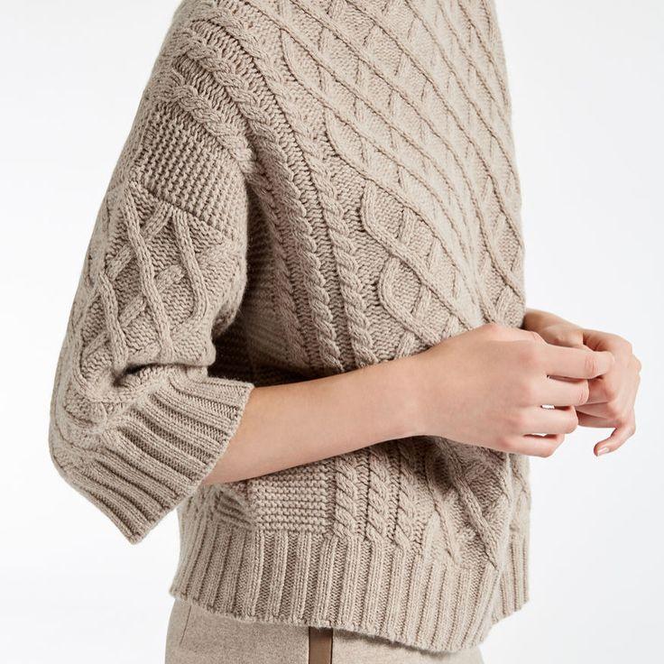 Max Mara 'Pullover aus Wolle und Kaschmir' #kt_womens #kt_pullovers #kt_grey #kt_black