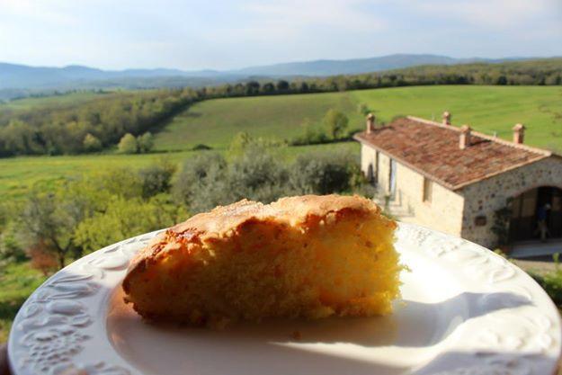 Lady Vera's pistacio cake at Lano, Tuscany