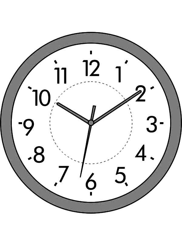 Analog Clock Coloring Pages For Kids Coloring Pages For Kids Analog Clock Clock