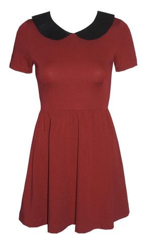 Franky Red Peter Pan Collar Dress $49.95