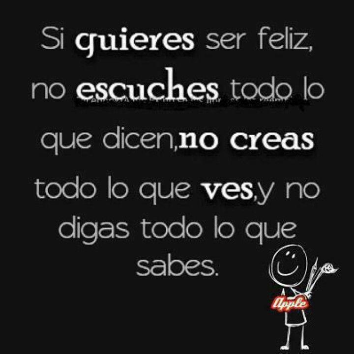 Si quieres ser #feliz #frases #palabras #vida #amor