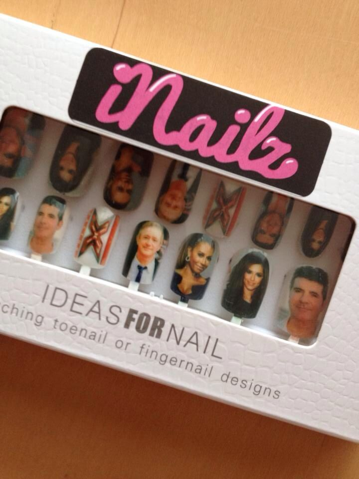 X Factor judges on your nails. Why not #xfactor #cheryl #melb #louiswalsh #simoncowell #divinedigitz #iNailz