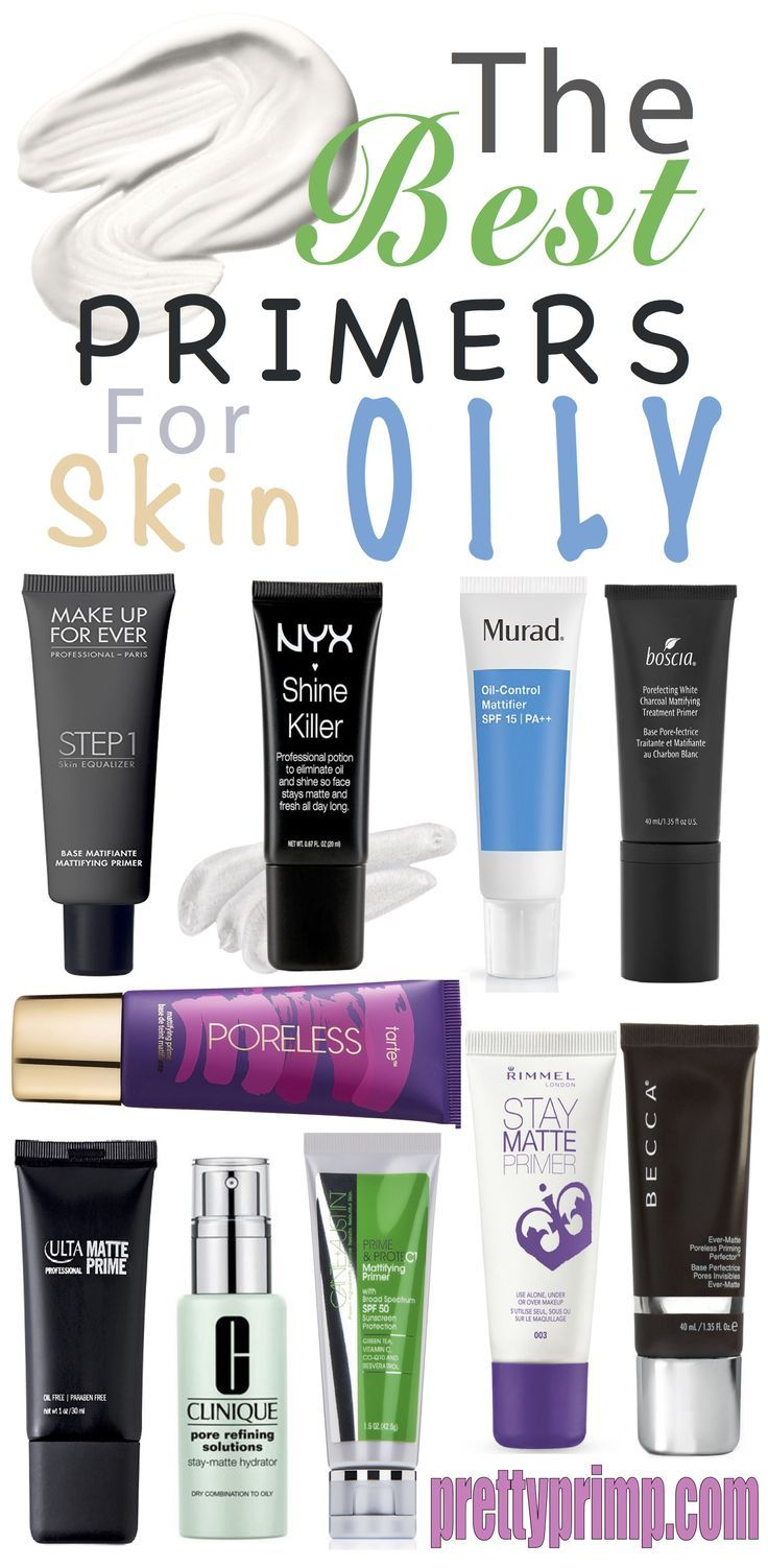 The best foundation primers from the drugstore AND high end. Use these primers to make  your makeup matte and keep your face from looking oily. #makeupprimer #makeup #beautytips #makeupproducts