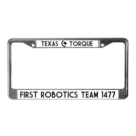 texas torque license plate frame