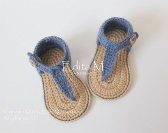Crochet bambino Sandali gladiatore stivaletti di EditaMHANDMADE