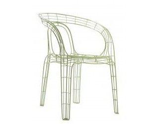 Groene draad stoel van Zuiver